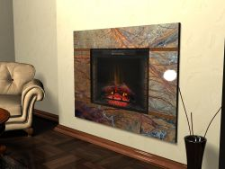 Камины от компании Flame-Design мрамор и электротопка.